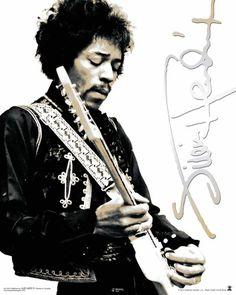 Jimi Hendrix Black & White Pósters en AllPosters.es