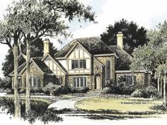 Eplans French Country House Plan - Recall the Timeless Style of Tudor - 3730 Square Feet and 4 Bedrooms(s) from Eplans - House Plan Code HWEPL13968