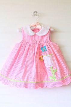 Hey, I found this really awesome Etsy listing at https://www.etsy.com/listing/278126370/vintage-baby-dress-pink-and-white