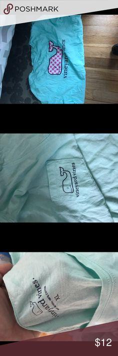 Vineyard vines shirt NWOT Mint blue vineyard vines woman's shirt. Never warn Vineyard Vines Tops Tees - Short Sleeve