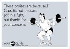 Or from getting dead leg punches from a brother, I WILL get Jake back and when I do, it will be bc I am strong as hell from training! Lol