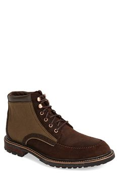 Woolrich 'Woodwright' Leather & Canvas Moc Toe Boot (Men)
