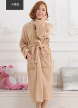 2d8e74f9f2 Autumn And Winter Warm Thickening Coral Fleece Women Ladies Robes Bathrobes  Gown