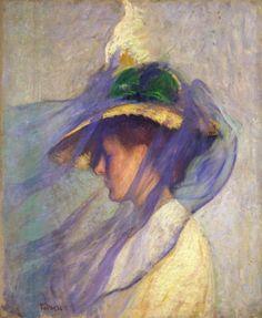The Blue Veil, Edmund Tarbell - 1899 - oil on canvas.