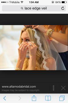 Veil placing hair down