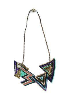 Brokenfab  #geometric #textile #necklace #jewelry #fashion #design