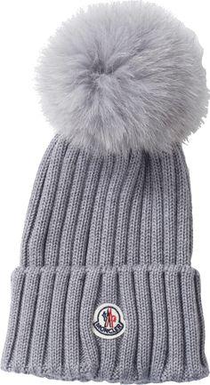 af65cb6b260 MONCLER Pom Pom Ribbed Knit Beanie Knit Beanie