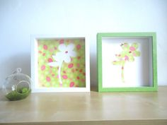 Handmade wall art decor set of 2 for  by AnnMaryConsulDesigns