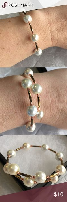 Glass bead wrap bracelet. Handmade with ❤ Handmade. Please note that these are not from a store and will not be perfect, but each are uniquely made with love. Will fit most size wrists. Compliments Alex and Ani, or beautiful all on its own. Thank you for stopping by ❤ Alex & Ani Jewelry Bracelets