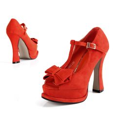 beautiful red bow heels! minus the bow