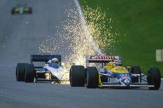 Piquet , Patrese Austria 1987