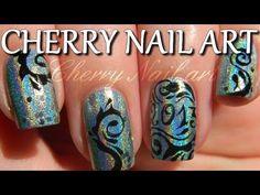 Tuto nail art nouvel an sur ongles courts - arabesques et 2013