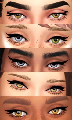 Perfect Colour Eyeliner The Sims 4 - Clove share Asia Maxis, Los Sims 4 Mods, Sims 4 Game Mods, Sims 4 Cc Eyes, Sims 4 Mm Cc, Eyeliner Hacks, Best Eyeliner, Makeup Hacks, Hair Hacks