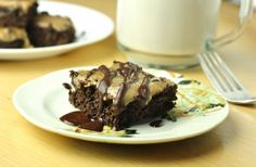 Healthy Cookie Dough Brownies, only 25 calories each!