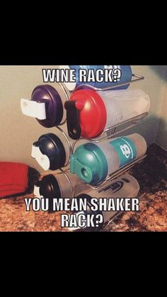 Shaker bottle storage