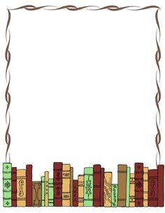 Border - Making-The-Webcom borders books - Books Borders Books, Borders For Paper, Borders And Frames, Book Clip Art, Book Art, Page Boarders, Border Templates, Boarder Designs, Book And Frame
