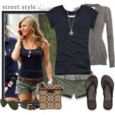 cute summer clothes idea... now if I just had the money that she does....