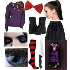 Nina The Killer (creepypasta) by cutipievaness on Polyvore featuring polyvore, mode, style, Full Tilt, Mauro Grifoni, Naughty Monkey, Wüsthof and Rapunzel Of Sweden