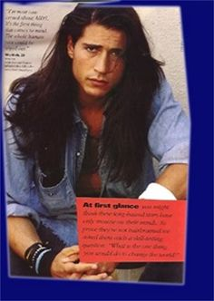 """billy wirth......OH MY WORD I was so in love with him in """"The Lost Boys""""....plus he just has really great hair! I'm even jealous of it!"""