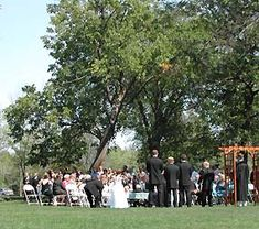 Outdoor wedding at a state park, sounds a bit restrictive but depending on the park might be good for a campfire