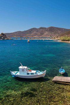 Petra beach in Patmos island Greece Greek Islands To Visit, Best Greek Islands, Greece Islands, Best Island Vacation, Italy Vacation, Vacation Trips, Vacation Travel, Mykonos Greece, Crete Greece