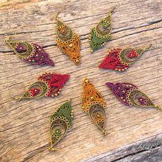 Available on etsy.com/shop/angelknots #angyalcsomozda #micromacrame #macrame #earrings #macrameearrings #handmade #jewelry #boho #bohemian #tribal #ethnic #festivaljewelry #tribaljewelry #fairy #gipsy #fashion #goa #psy #bohojewelry #hippie