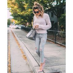 Girl On The Go Fall Street Style Inspo by Hello Fashion Fall Outfits, Casual Outfits, Cute Outfits, Fashion Outfits, Mode Style, Autumn Winter Fashion, Winter Style, Love Fashion, Model