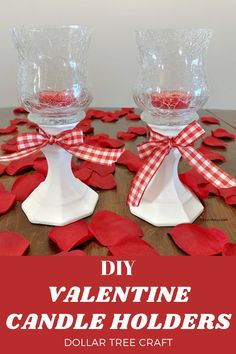DIY dollar tree Valentine candle holder is simple to make and very inexpensive. #ValentineCandle #ValentineCandleHolder #FarmhouseCandleHolder #ValentineFarmhouseCandleHolder #myturnforus Dollar Tree Candle Holders, Dollar Tree Candles, Dollar Tree Crafts, Glass Candle Holders, Easy Valentine Crafts, Valentine Desserts, Valentines Day Food, Diy Valentine's Candles, Crackle Glass