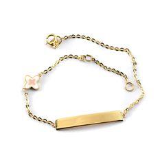 Βραχιόλι ταυτότητα για κορίτσι χρυσό κ14 124 Jewels, Bracelets, Gold, Fashion, Moda, Jewerly, Fashion Styles, Bracelet, Gemstones