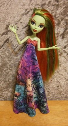 Marbled maxi dress for monster high dolls by moonsight68 on Etsy, $12.00