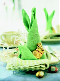 Add an extra special twist to your Easter table with our fun and easy to create Bunny Napkins.
