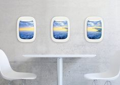 Treasure your wonderful travel memories from the viewpoint of an airplane window with the Air-Frame Set by TEEV.