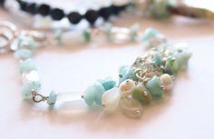 Valentine Day Gift Bracelet-Natural Aqua Stone Bracelet-Aqua Summer Jewelry-Ocean Dream Bracelet-Elegant Handmade Natural Stone Jewelry by ClassyTouchByValia on Etsy