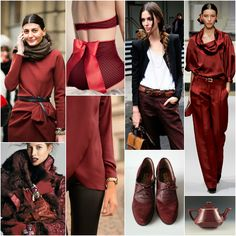 "Next to black and white, red is is my favorite colour to wear... /// Polish blogger Maria analyses shades of red right for each season type: MAROON RED.  ""For Soft Autumn, True Autumn, Deep Autumn. Perhaps for Deep Winter."