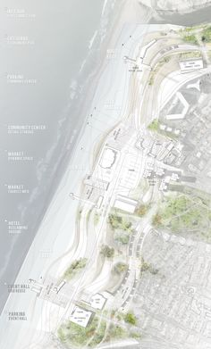 architecture site plan _ Sea Change - Edge of the sea by Dalia Munenzon Architecture Site Plan, Architecture Panel, Architecture Graphics, Architecture Drawings, Architecture Student, Landscape And Urbanism, Landscape Architecture Design, Landscape Plans, Portfolio Design