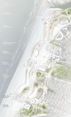architecture site plan _ Sea Change - Edge of the sea by Dalia Munenzon