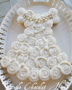 Bridal Shower Cake:  Made with cupcakes.