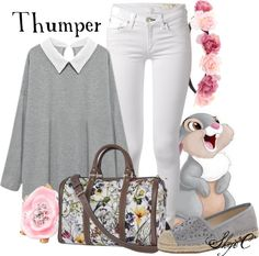 Thumper - Spring - Disney's Bambi by rubytyra featuring headband hair accessories