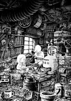 """thesaddestbitchinallofspectrum: """"illustration by panpanya for 資料性博覧会07 """""""