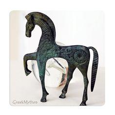 Greek Bronze Horse in Gallop by GreekMythos on Etsy, $72.00
