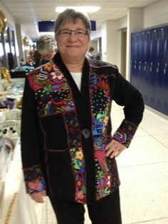 'Distinctive' Jacket from book:  Sweatshirt Transformations - customer in Oshkosh, WI.