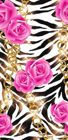 Roses on safari print wallpaper Gothic Wallpaper, Flowery Wallpaper, Wallpaper Iphone Cute, Cellphone Wallpaper, Disney Wallpaper, Cool Wallpaper, Animal Print Background, Animal Print Wallpaper, Pretty Backgrounds