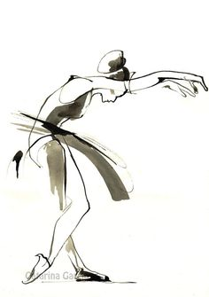 Dance Drawing by CatarinaGarciaArtes on Etsy You are in the right place about Dancing Drawings tumbl Tango, Movement Drawing, Line Drawing, Dancing Drawings, Art Drawings, Girls Dance Costumes, Ballet Art, Drawing Reference Poses, Girl Dancing