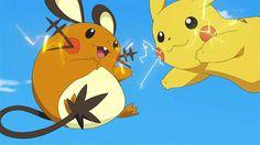 Pikachu/Dedenne (gif)