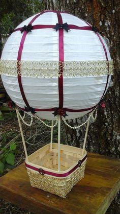 Arriba arriba y lejos caliente aire globo boda por ElfInkDesigns