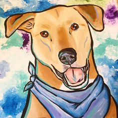 Meet Chester 🐾who is very handsome in his blue bandana #dog #dogs #dogsofinsta #dogstagram #lovemydog #dogsofig #dogoftheday #dogart #dogportraits #dogpainting #dyi #thesoo #saultstemarie #saultstemarieontario #doglover #doglfovers #yellowlab #labrador #lab #yellowlab #labradorretriever  #nothernontario #ontario #ontariodogs  #saultstemariemichigan