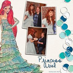 Princess Ariel Disney Digital Scrapbook Layout
