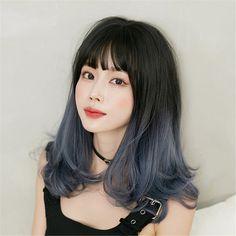 Long Curly Hair, Curly Hair Styles, Hair Inspo, Hair Inspiration, Korean Hair Color, Fluffy Hair, Butterfly Hair, Wigs With Bangs, Creative Hairstyles