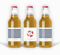 Malo Cider Packaging by Adrienn Nagy, via Behance