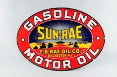 Colorful Sun-Rae Motor Oil Porcelain Sign